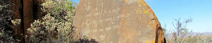 British Army graffiti on Oukop, near Cradock dating from the Anglo Boer War (1899 - 1902)