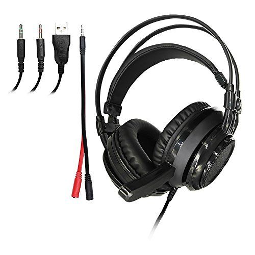 FarCry 5 Gamer  #Gaming #Headset with #Mic, #Noise #Cancelling #50MM Over #Ear #Headphones, #USB #Computer #Headset with #LED #Light, #Bass #Surround #Stereo, #Memory #Foam #Earmuffs for #Xbox One, #PS4, #Phones, #PC & #Mac - #Black (Black)   Price:     Product specifications Wearing manner------Headband speaker diameter------50MM Speaker Impedance------32Ω Frequency response------20Hz - 20KHz Speaker sensitivity------113+ / -3dB #Headset jack------Three plug Wire length----