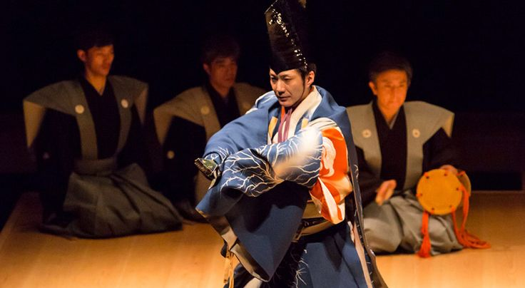 Japanese traditional play,Kyogen.This is 'Sambaso'.