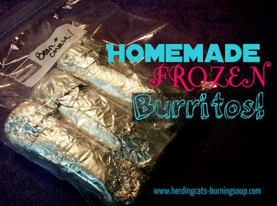 Tasty Delights-- Homemade Frozen Burritos