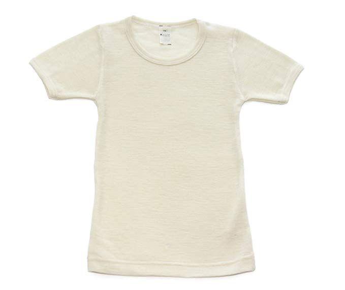 Hocosa Big Kids Organic Wool Underwear Shirt with Long Sleeves