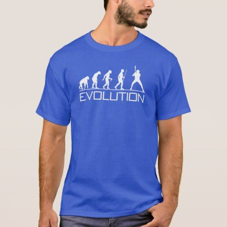 Evolution of Man - Baseball T-Shirt - click/tap to personalize and buy