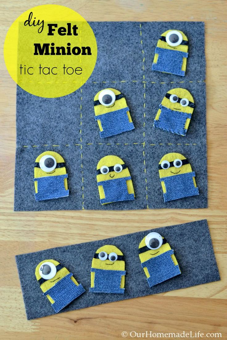 Fun Kid Crafts: DIY Felt Minion Tic Tac Toe Board