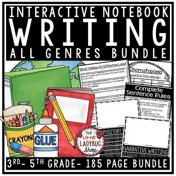 Writing Interactive Notebook [Narrative, Expository Writin