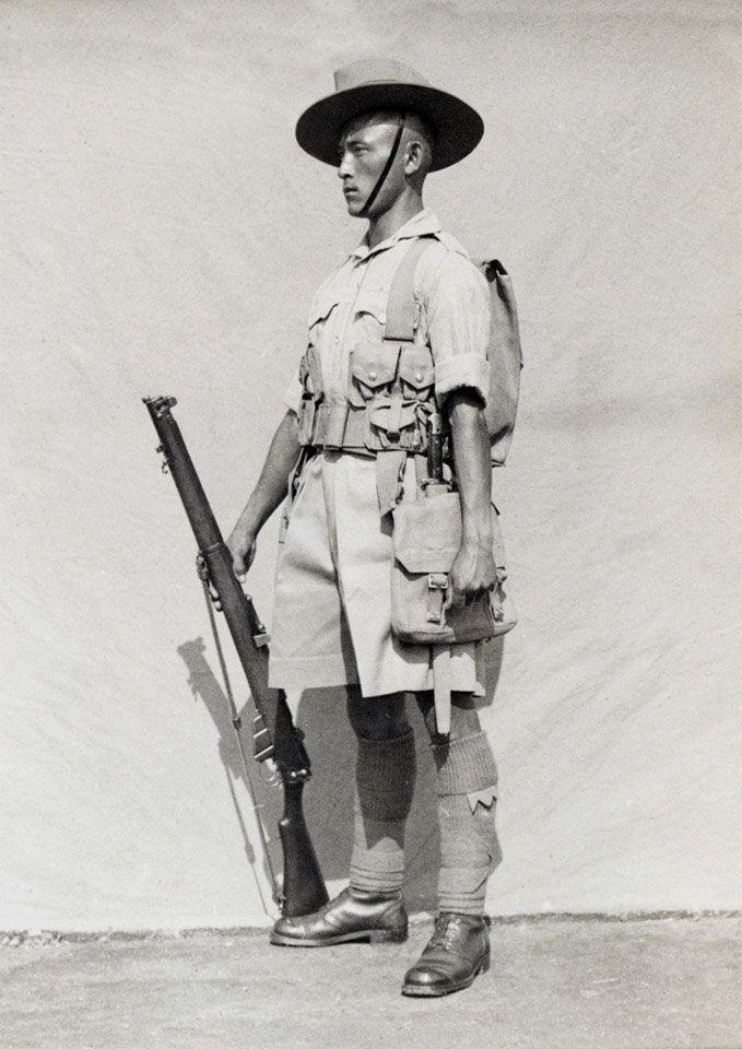 British A Rifleman Of The 7th Gurkha Rifles In Field