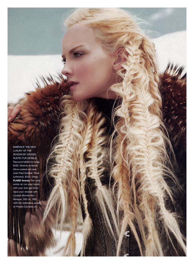 This would totally ruin my hair, but it sure looks cool. Almost like a viking warrior woman-ish.