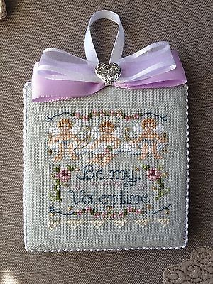 Finished-Completed-Cross-Stitch-Ornament-Be-My-Valentine-by-Just-Nan