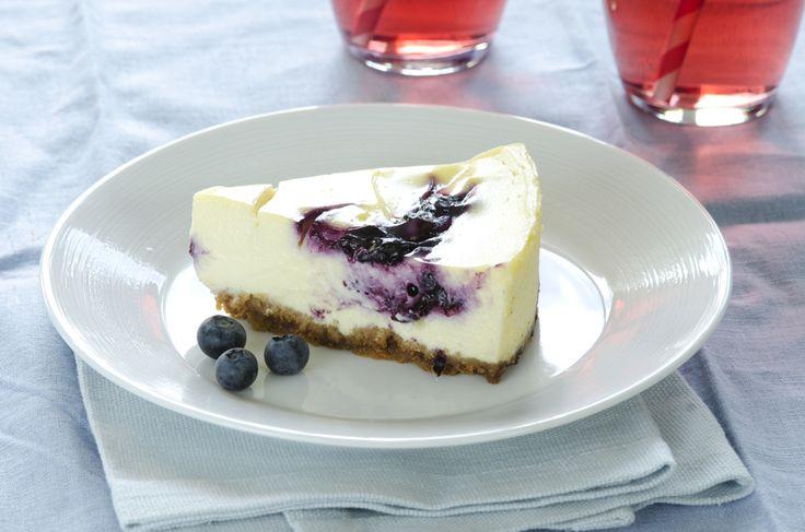 Stekt ostekake med blåbær