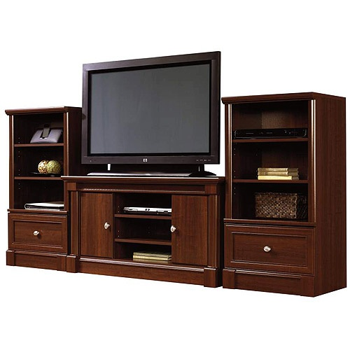 Sauder palladia tv stand and storage towers value bundle for Living room furniture bundles