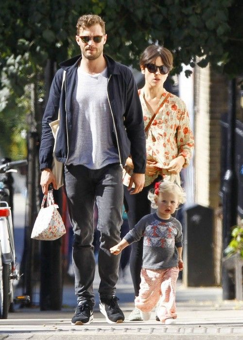 Jamie+Dornan+&+Family+Step+Out+In+Notting+Hill