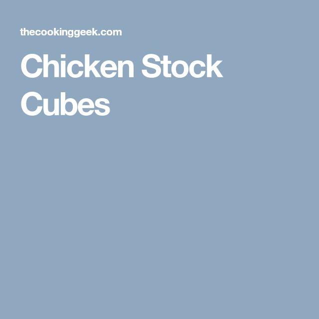 Chicken Stock Cubes