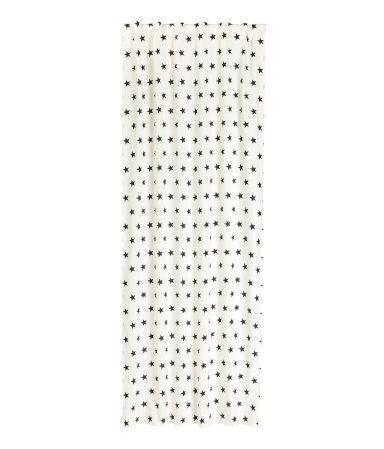 Star-print Curtain Panel | White/black | Home | H&M US