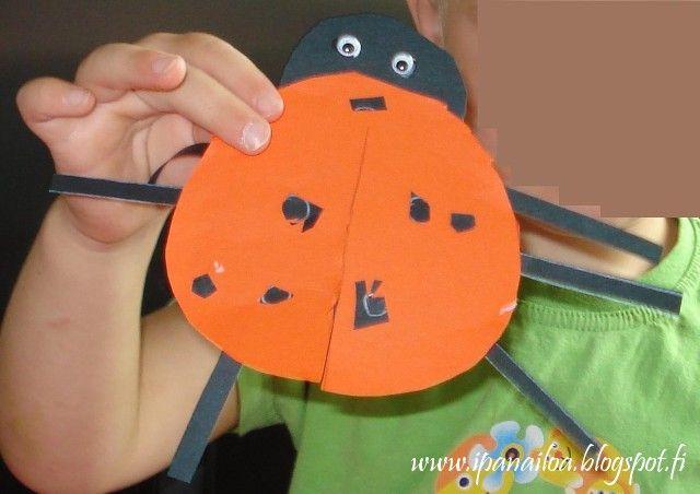 askartelua: eläimet, leppäkerttu  http://ipanaaskartelua.blogspot.fi/2011/08/leppakerttu.html