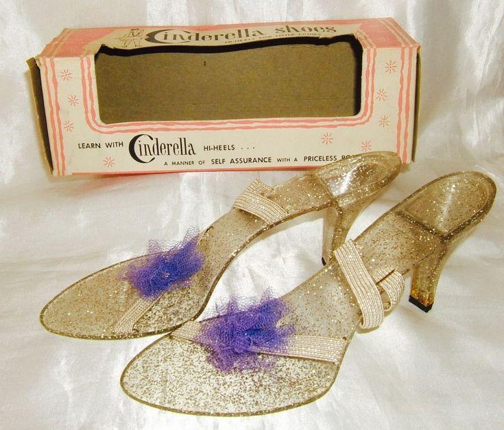 "Vintage Girls Heels Shoes ""CINDRELLA HI-HEELS"" Pretend Play Toys New IOB 1960's #MyHiHeels"