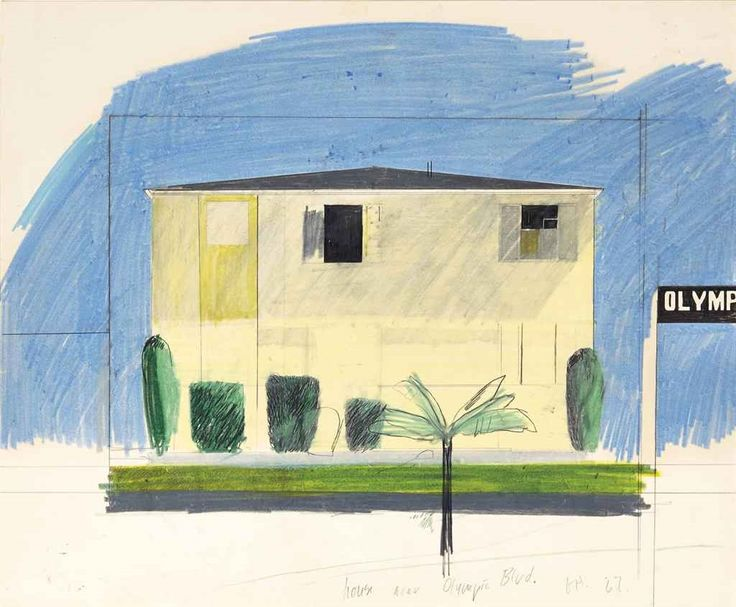 David Hockney; House, Olympic Boulevard (1967