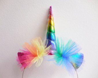 Diadema de unicornio arco iris Rainbow unicornio por Graciosa