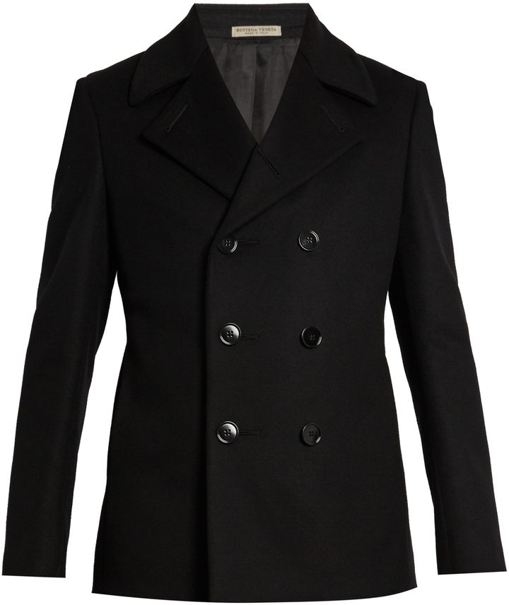 BOTTEGA VENETA Double-breasted wool pea coat