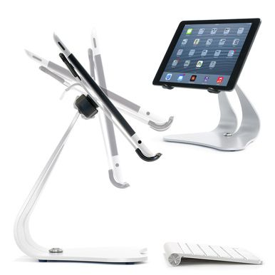 Stabile PRO iPad stand & iPad Air Stand, pivoting, solid steel, and made in the USA. Great for the kitchen or desk!