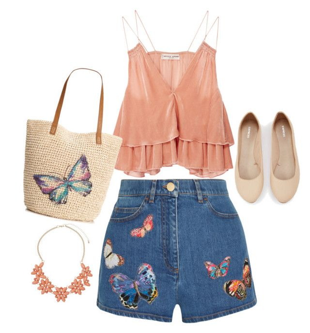 """""""Butterfly"""" by gardenofroses on Polyvore featuring Valentino, Apiece Apart, Style & Co., Express and Dorothy Perkins"""