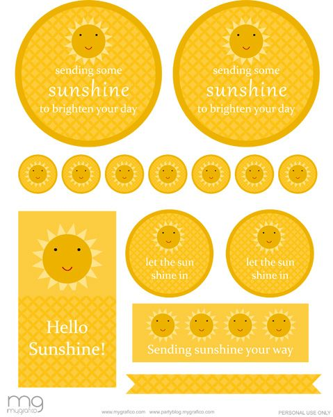 Freebie Friday: Gift of Sunshine - Mygrafico Party Ideas & Giveaways Blog