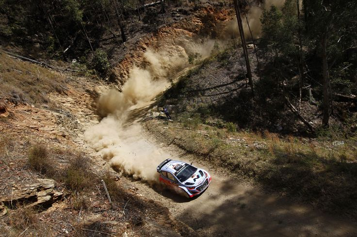 """Thierry Neuville Racing at the FIA World Rally Championship in Coffs Harbour, Australia. McKlein / Red Bull Content Pool <a href=""""https://www.redbullphotography.com/editors-choice/1410713473414-1925730863"""">Red Bull Photography</a>"""