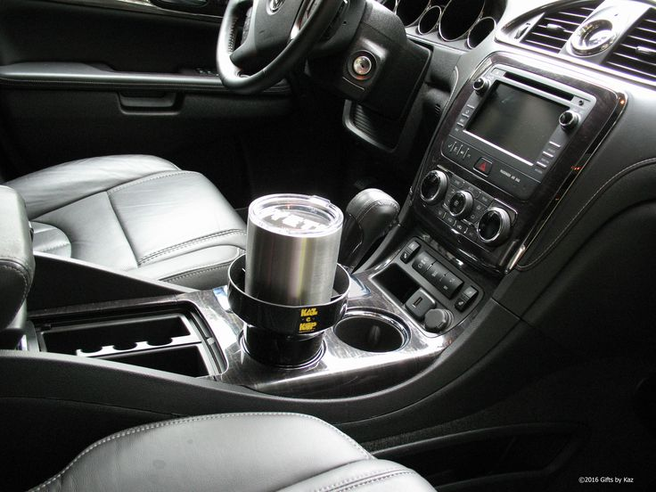 The KAZeKUP® Ultimate Cup Holder fits in your existing cup holders and catches spills and drips! Keep your cupholders clean the easy way. #kazekup #Yeti #cleancupholders #coffeeonthego