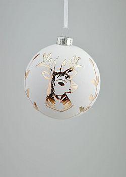 Χριστουγεννιάτικες μπάλες λευκές - διάφανες - Στολίδια δέντρου