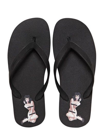 Givenchy pin up rubber flip flop
