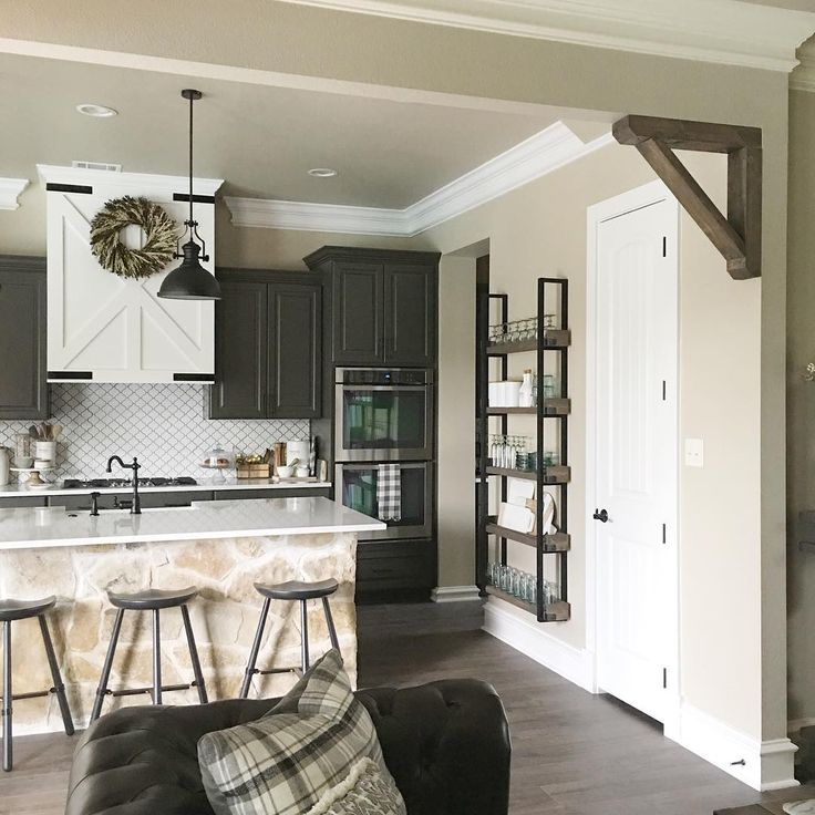 Corbels in between dining and living