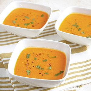 Carrot-Ginger Soup ~88kcals | MyRecipes.com