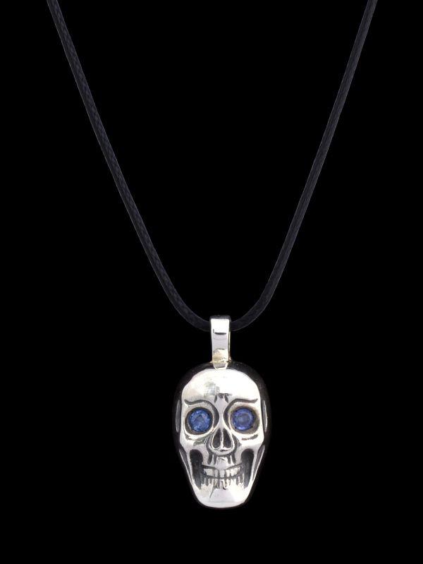 #silver #skull #sapphires #finejewellery #jewellery #pendant