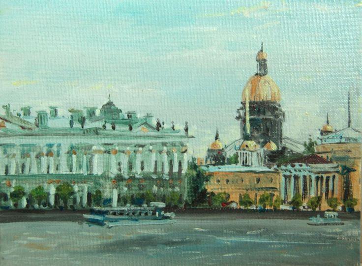 #landscape#city#cityscape#blue#river#impresion#impresionism#Petersburg