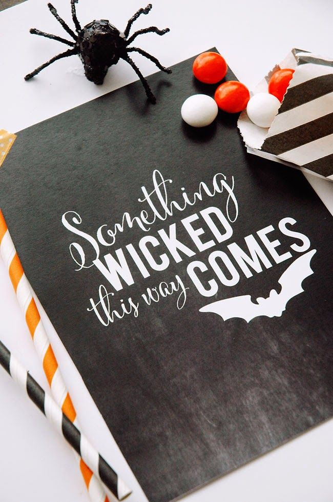 Something Wicked This Way Comes Chalkboard Printable