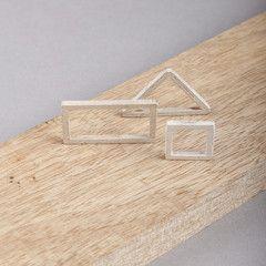 Ring Houtmotief - Driehoek