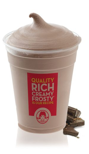 Mock Wendy's Frosty: 80 calories, 0.5 g fat. Blend:1 CUP milk, 2 TBSP Sugar, 2 TBSP Fat Free Chocolate Pudding Mix, 1 TSP Vanilla Extract, 1 TSP Unsweetened Cocoa, 1/2 TBSP Splenda (2-3 small packets), 2 TBSP Cool-Whip Free (optional), 7 Ice Cubes