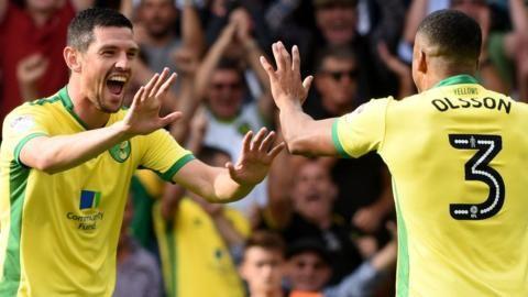 Norwich City celebrate a goal