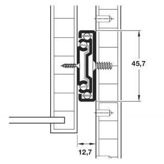 Elraco Distributors- Soft Closing Slides- DRAWER SLIDE SOFT CLOSE 600mm - SIDE MOUNT - BLACK - Elraco