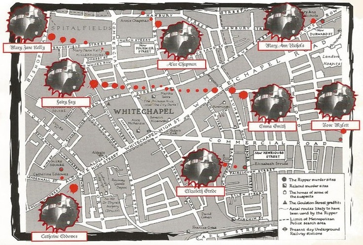 Jack the Ripper map