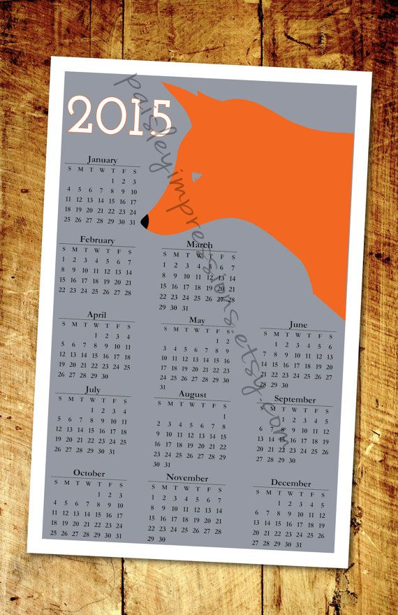 83 best calendars images on pinterest calendar design schedule fox minimalist 2015 wall calendar printed by paisleyimpressions wall calendarsminimalistdiysfoxbricolagedo it yourselffai solutioingenieria Gallery