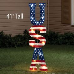 4th of july yard decorations