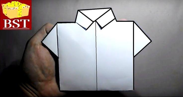 Оригами рубашка своими руками из бумаги а4…