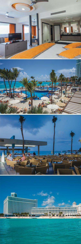 All Inlcusive hotel in Cancun, Mexico - Riu Cancun - pool bar - beach front location