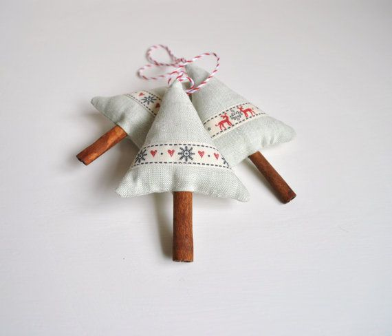 Cinnamon Christmas Tree Fabric Decorations