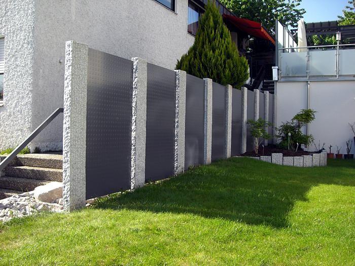 700 525 pixel sichtschutzwand pinterest for Gartengestaltung vor zaun