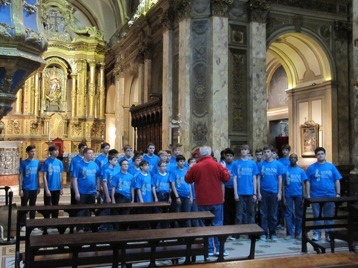 Singing at the Buenos Aires Metropolitan Cathedral