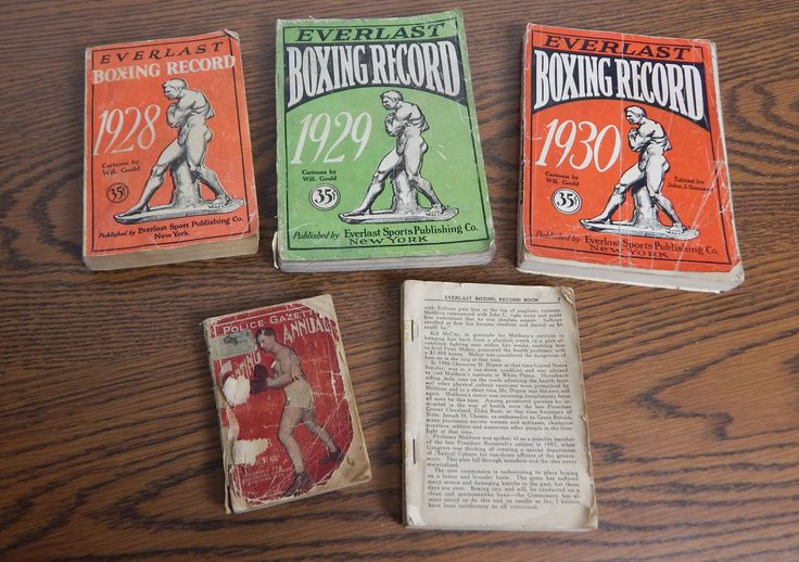 1918 Police Gazette Sporting Annual and 1922 28 29 & 30 Everlast Boxing Records by Cheri5458 on Etsy