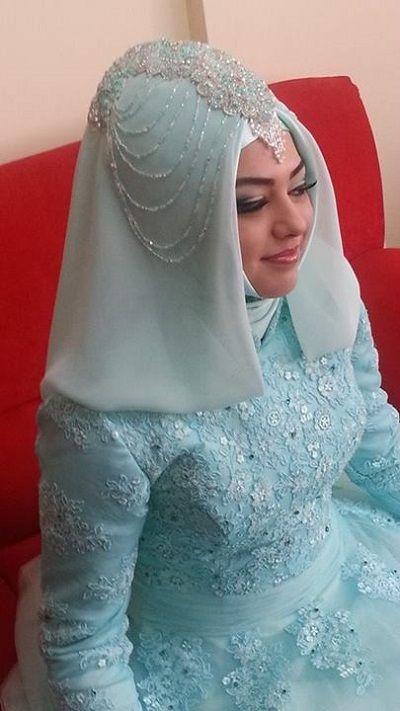2014-tesettur-gelin-sac-modeli...Turkish bride