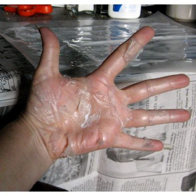Letting glue dry on your hand, just so you could peel it off!