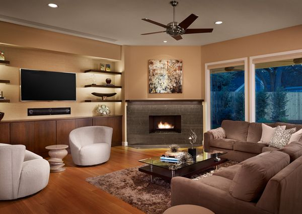 20 Beautiful Living Room Layout With Two Focal Points In 2020
