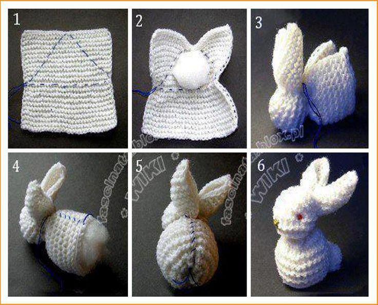couture facile à partir d'un carré de tricot